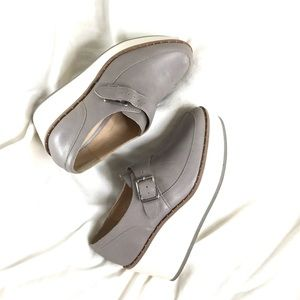 Zara platform grey shoes